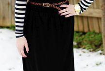 Long black skitt outfit