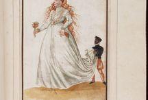 16th century Italian dress drawings