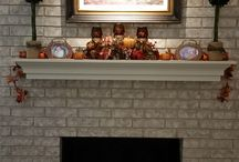 Fall Fireplace / Decorating the fireplace for fall.