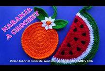 naranja y sandía a crochet