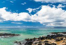 """Makena Cove Aka """"Secret Wedding Beach"""" Maui / Maui Beach Weddings, Maui Vow Renewals, Maui Engagements, Maui Elopement packages, Eloping to Maui, Maui Bridal Updo Hair and Makeup, Maui Wedding Bouquets, Maui Ukulele Players, Maui Wedding Photography"""