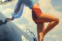 Pinup Girls War  Ads / Fashion
