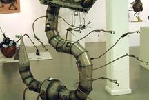steampunk/cyberpunk/sculptures