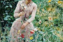 Сады и прекрасные садовницы в живописи