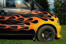 Pinstriping & flames