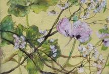 Art peinture fleurs (Claire Basler) / Peinture fleurs