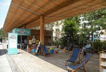 """Cabane à Lire - été 2016 / Une """"cabane à Livres"""" au coeur des jardins du Paillon.  Une animation de la BMVR de Nice"""