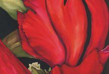 Flowers Silk painting