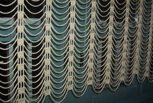 cortina crochê