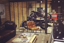 Motorcycle garage man cave
