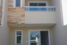 fachada de casa duplex