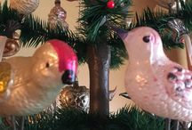 Own collection old and antique Christmas / Old and antique Christmas decoration