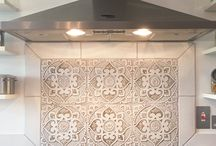 Kitchen tiles / Handmade, ceramic tiles suitable for kitchens, bathrooms and around the home.