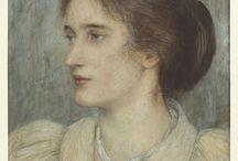 женский портрет плечевой (female portrait)