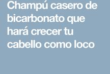 CHAMPÚ CASERO CON BICARBONATO
