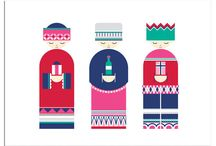 Illustration - Elegant simplicity / Illustrations with a refined style using simple shapes & pattern