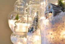 Glassed christmas scenes
