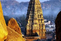 Ruins Of Hampi / Recognised as a UNESCO World Heritage Site, Hampi was one of the richest and largest cities in the world during its prime! The ruins of this beautiful empire tell stories of its rich culture.