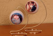 Wedding and Newborn Gift That's Unique! / Get on the Ball Photos can put a photo of the wedding couple on an ornament with the date! What a great, unique gift for the new couple that will catch the memories of that special day!