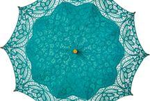 Turquoise Parasol / Umbrella
