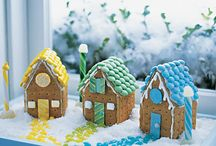 Cookie Houses /  Here are some Fun Cookie House Creations. There are some great ideas here to use on Cookie Houses (Gingerbread) for any Season. You can cover them in Traditional Candy, Icing, Fondant or whatever Inspires you!  I think they are so much Fun!!! / by Cake & Bake