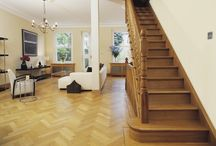 Hallway & Stair Ideas | Wood Flooring / Hallways are often the first part of your home visitors see, so it's important to create the right first impression.  A durable wooden floor will help to achieve a functional space and also stylishly link other rooms together.  The Natural Wood Floor Company London | SW18 1EG