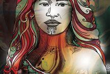 NZ Maori Art Paintings +