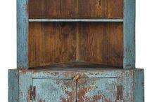 Farmhouse Cabinets / Cupboards Linen Cabinet Pie Safe Linen Closet Antique Vintage