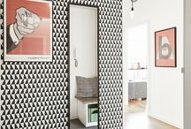 Black & white wall papers