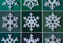 snowflakes beads con ferro da stiro