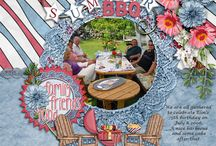 Patriotic Picnic Digital Scrapbooking Collection by Kathryn Estry / A patriotic collection on the pretty side this time, Patriotic Picnic is for any photos having to do with family or the 4th of July, or even celebrations in other countries.  This collection would be great for photos of summer, bar-b-que, outdoor fun, picnics, family, America, and Canada.
