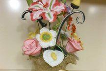flores a crochet / creaciones de brenda v.