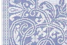 Ricami  Punto Assisi - Assisi stitch