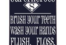 Boys bathroom!! / Superhero style. / by Carrie L.