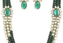 Attractive India Bollywood Designer Kundan Jewellery Set