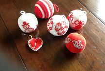 gebreide kerstballen