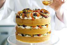 tort,biszkopt,owoce, krem