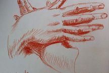 sanguines / mes dessins à la sanguine : copies de maîtres, dessins originaux, ...