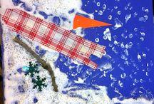 Roční období - Zima / Zimní výrobky, hra a aktivity pro malé děti