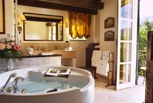 """Lovely bathrooms / Choose the bathroom you love, Find your country style hotel along the Italian Riviera at """"La Meridiana Relais & Chateaux"""""""