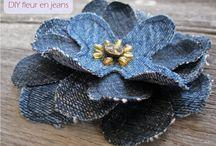 fleur en jean