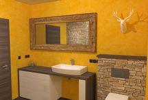 očkodesign - 3D návrh koupelny v extravagantním stylu