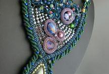 original hand-made jewely / オリジナルジュエリーの紹介 ビーズ&ワイヤーによるハンドメイド作品