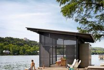 Boat shed homes / Great water to row.