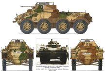 II WW German armoured half tracks