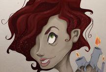 Tusche- und Bleistiftzeichnungen /  Zeichnungen, Doodles und ähnliches