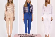 SS2016 Womenswear Fashion Trends / Fashion Trends as seen in NY and Milano Fashion Shows.