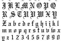 Шрифт готика