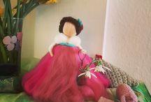 Sanserier / Magical wool fairies and angels from Sanserier.dk. ❤