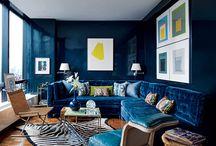 Interior Design: Blue Livingroom inspiration / by Didi Kasa